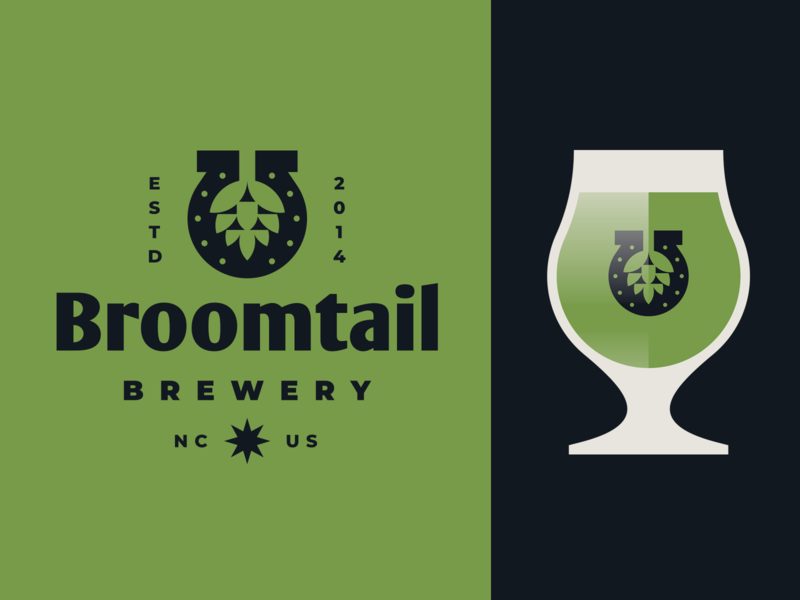 Broomtail Brewery badgedesign badge horseshoe hop craft brewery craftbeer brewing brewery beer label design beer branding beer label beer mark brand identity illustration modern logo branding geometric logotype logo