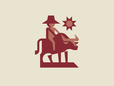 Philippines carabao man philippines carabao sun bull character geometric animal cute geometric mascot illustration modern logo animal logotype logo
