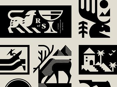 Illustrations project illustrator vector package monochrome modern logo graphic design design collection branding geometric animal logotype logo illustration