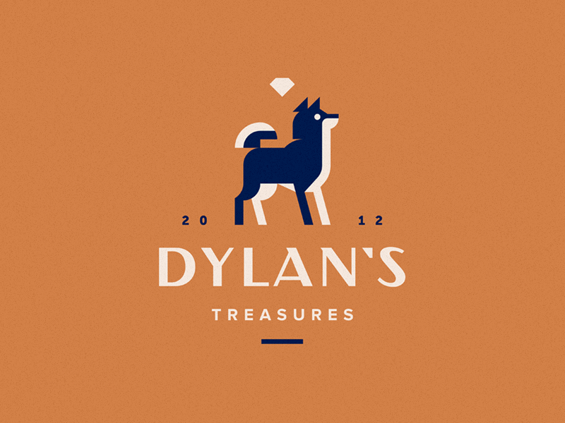 Dylan`s treasures diamond akita logo dog