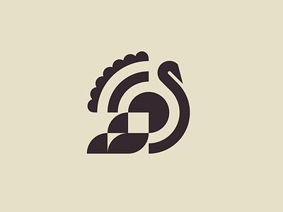 turkey mark / thanksgiving minimal mark thanksgiving turkey holiday bird animal logo