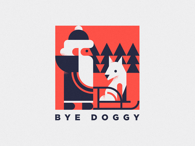 bye year of the dog illustration christmas happynewyear santa character dog animal cute