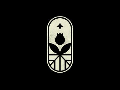 Tulip monochrome flower plant roots logo