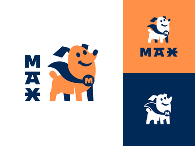 Max Puppy puppy mascot dog animal cute character logotype logo