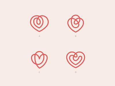 Hearts mark icon linear line sign heart