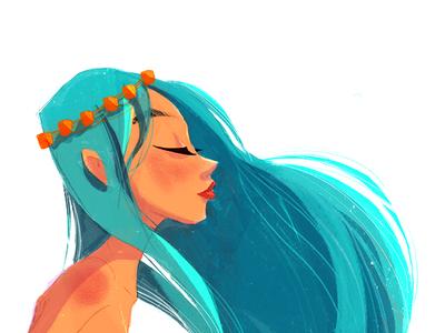 Summer breeze characterart digitalillustration illustration
