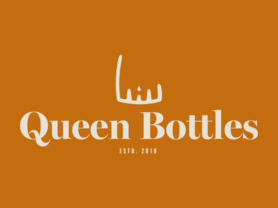 Queen Bottles best adobe illustrator branding brand dribbble graphic logo design