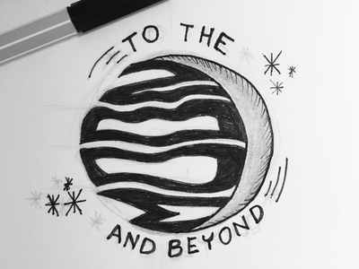 To the moon and beyond making typography logo dribbble graphic design illustration