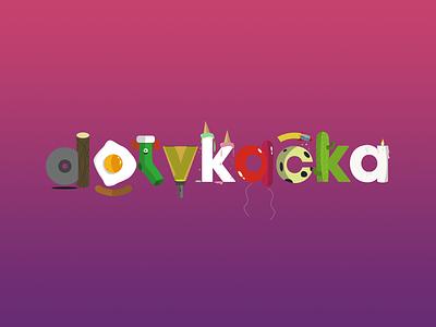 Dotykačka illustrated logo logo design illustrator illustrated logo