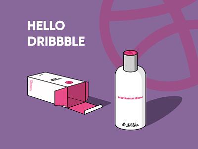 Dribbble Inspiration Serum funny design graphics inspiration illustration shot debut