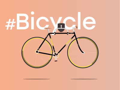 Just Bicycle fun illustration bicycle gradient design graphic