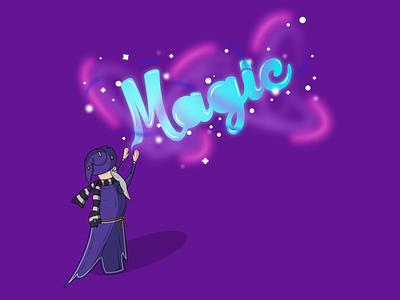 Magic magic vector illustrator adobe design graphic lettering best shot wizard dribbble illustration