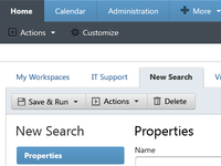 FP Web Application: New Search