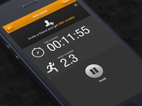 iPhone App Design / Timer screen
