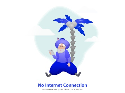 No connection screen notification character vector 404page ui design illustration