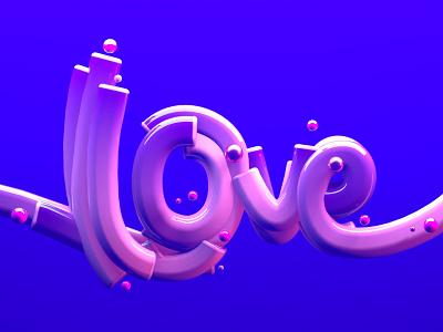Love lettering lettering letters background 3d modeling 3d art illustration cinema4d c4d 3d