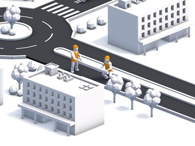 3d road works