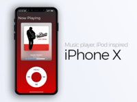 Iphone X - Music Player Concept