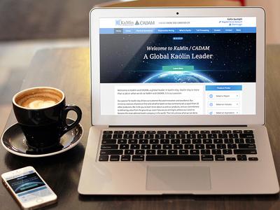 KaMin / CADAM Website web mobile clay search responsive