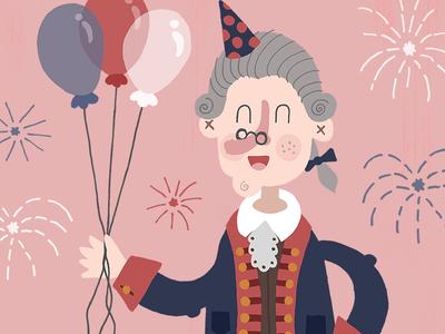 Happy Birthday USA! patriotic typography illustration usa