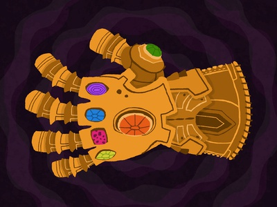 Infinity Gauntlet childrens childrens illustration stones purple gold color thanos infinity war gauntlet infinity avengers design illustration