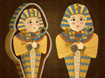 Sarcophagus characterillustration character app pharaoh mummy sarcophagus egyptian childrens illustration childrens illustration