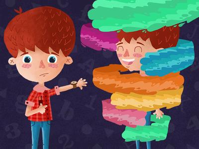 Main Character learning app educational childrens illustration childrens illustration