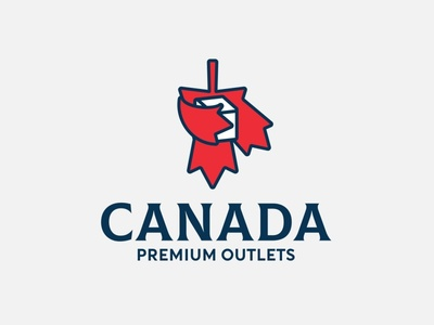 Canada Premium Outlets delivery logistic canada symbol fly bird logo