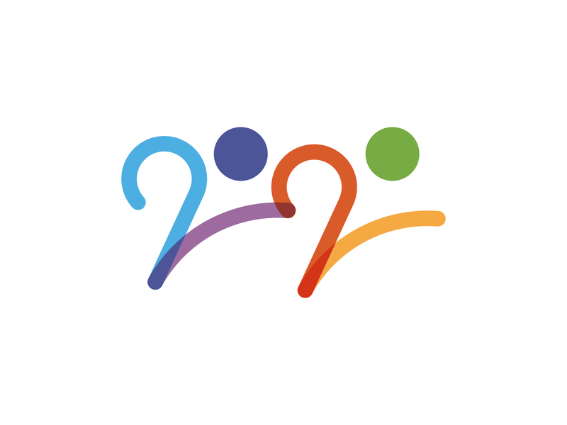 Young 2020 people logotype sport run young 2020 trend 2020 logo symbol