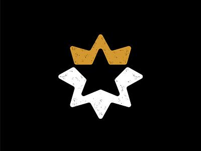 Star king startup logo elite royal golden symbol crown king star