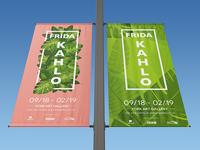 Frida Kahlo Exhibition Lamp Poster Design