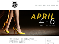Gainesville Fashion Week 2014 Website Graphics