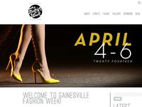 Gainesville Fashion Week 2014 Website Graphics