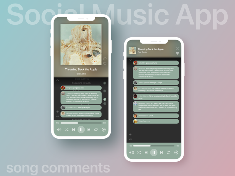 UI exercise: social music app 2 - comments display