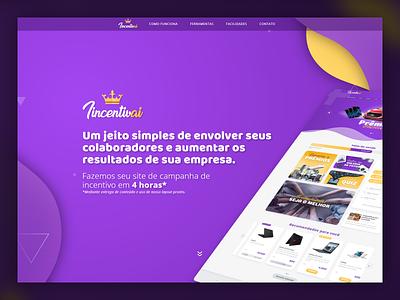 Incentivai website design purple site