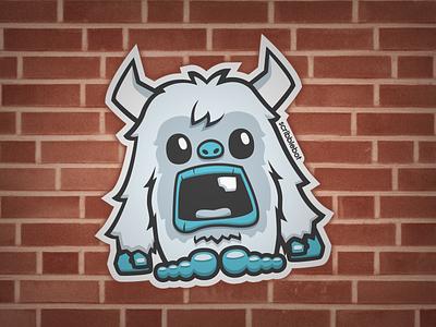 Yeti Sticker snowman abominable sticker yeti