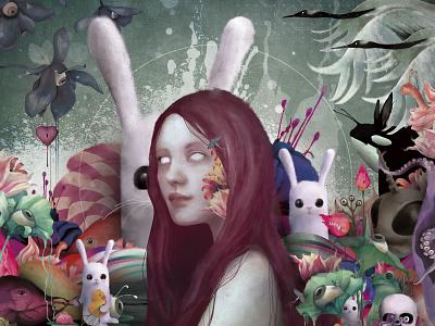 Dream Zone Eternity street art strength mixed media figurative fine art woman illustration