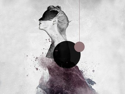 Hurricane mystic mixed media strength body figurative woman illustration fine art