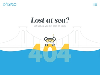 Agency 404 Page Design