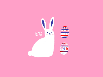 Easter 🐰🥚✏️ easter eggs bunny easter color digital art digital illustration