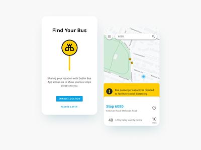 Dublin Bus App Redesign design autobus ireland redesign ux ui app travel transport bus