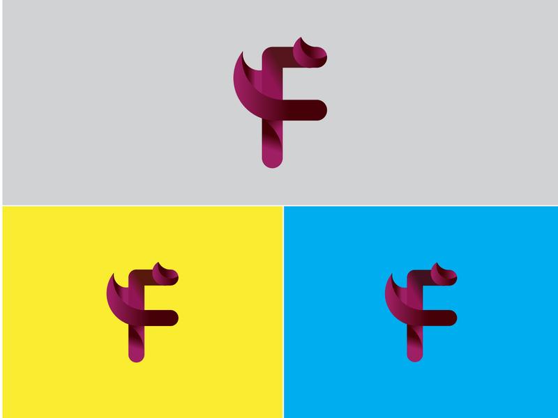 F Lettering Logo minimal web vector typography lettering branding art logo illustrator design
