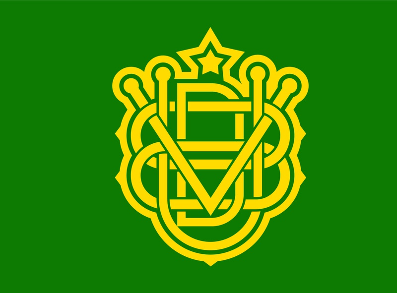 Voodumx. Monogram chrizar branding vector design modern yellow green typographic logodesign logotype monogram