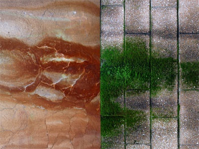 RUST|MOSS rust moss wall pattern photography