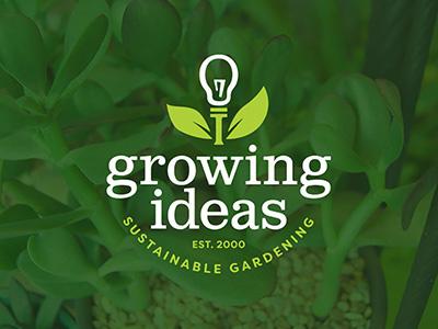 Growing Ideas - Logo environment green branding natural nature gardening logo gardening plants ideas growing growing ideas