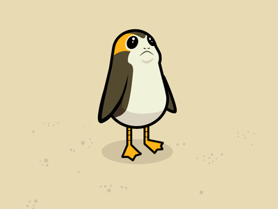 May the porg be with you porg vector starwars illustration