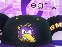 Purple, Yellow and Black Bmore Raven Snapback