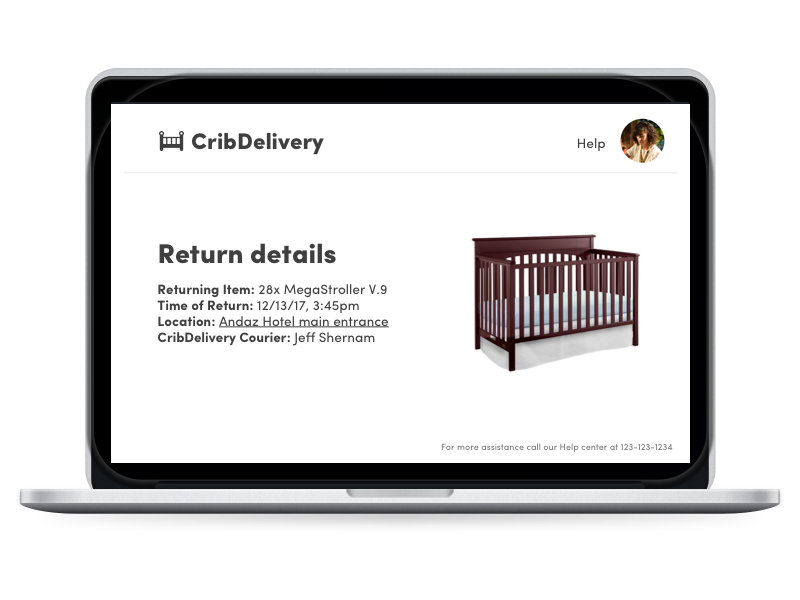 CribDelivery sketch peer economy responsive web design interaction design baby stuff delivery crib wireframe