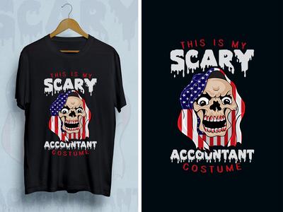 Scary Halloween T-shirt Design