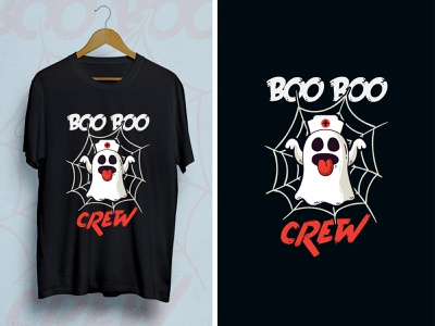 Boo Boo Crew behance project behance crew boo spooky halloween tshirt design tshirt art abstract art daily 100 challenge print design dribbble best shot dribbble typography vector illustration creative design branding